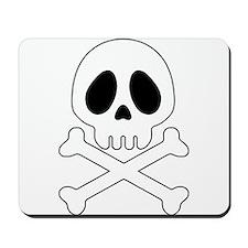 Galactic pirate skull Mousepad