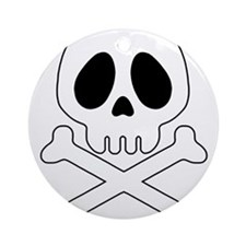 Galactic pirate skull Round Ornament