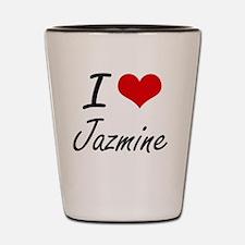I Love Jazmine artistic design Shot Glass