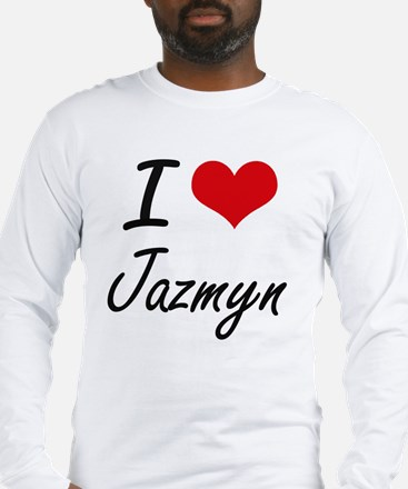 I Love Jazmyn artistic design Long Sleeve T-Shirt