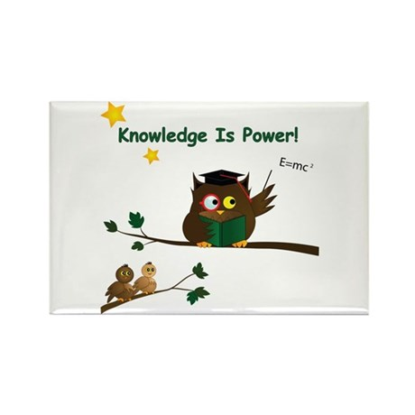 Teaching Wise Owl Rectangle Magnet