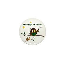 Teaching Wise Owl Mini Button (10 pack)