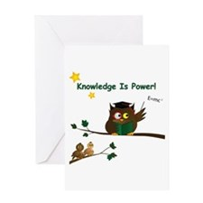 Teaching Wise Owl Greeting Card