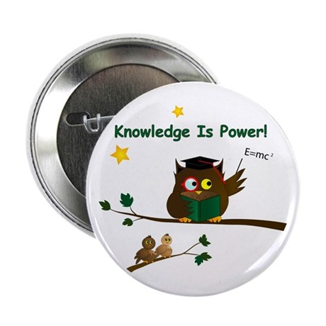 "Teaching Wise Owl 2.25"" Button"