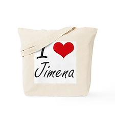 I Love Jimena artistic design Tote Bag