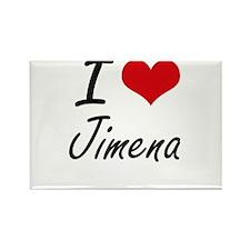 I Love Jimena artistic design Magnets