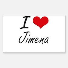 I Love Jimena artistic design Decal