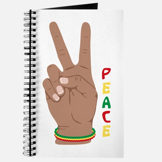 Peace Hand Sign Journal