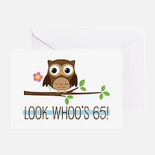 65th Birthday Owl Greeting Card