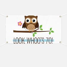 70th Birthday Owl Banner