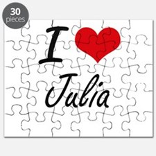 I Love Julia artistic design Puzzle