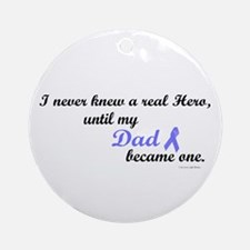 Never Knew A Hero PC (Dad) Ornament (Round)