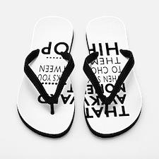 Hip Hop Dance Awkward Designs Flip Flops