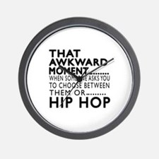 Hip Hop Dance Awkward Designs Wall Clock