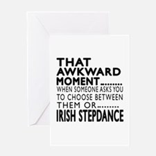 Irish Stepdance Dance Awkward Design Greeting Card