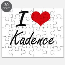 I Love Kadence artistic design Puzzle