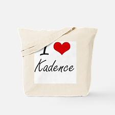 I Love Kadence artistic design Tote Bag