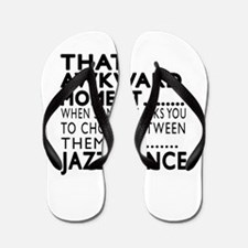 Jazz Dance Awkward Designs Flip Flops