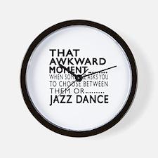 Jazz Dance Awkward Designs Wall Clock