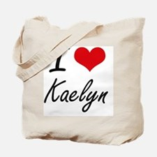I Love Kaelyn artistic design Tote Bag