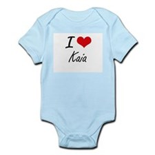 I Love Kaia artistic design Body Suit