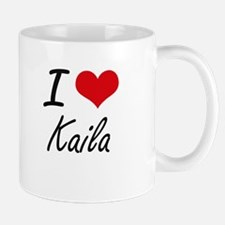 I Love Kaila artistic design Mugs