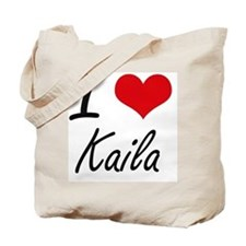 I Love Kaila artistic design Tote Bag
