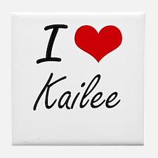 I Love Kailee artistic design Tile Coaster