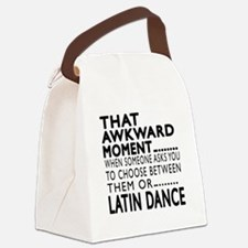 Latin Dance Awkward Designs Canvas Lunch Bag