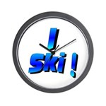 I Ski Wall Clock