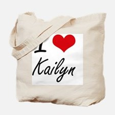 I Love Kailyn artistic design Tote Bag