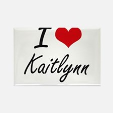 I Love Kaitlynn artistic design Magnets