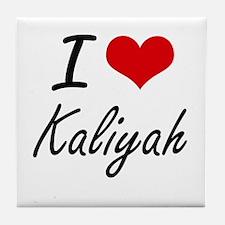 I Love Kaliyah artistic design Tile Coaster
