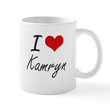 I Love Kamryn artistic design Mugs
