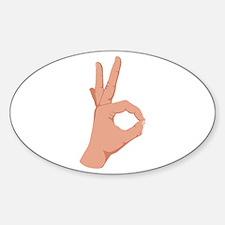 Okay Hand Sign Decal