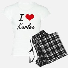 I Love Karlee artistic desi Pajamas