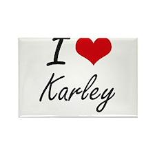 I Love Karley artistic design Magnets