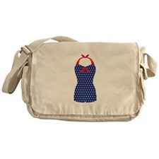 Vintage Beach Swimsuit Messenger Bag