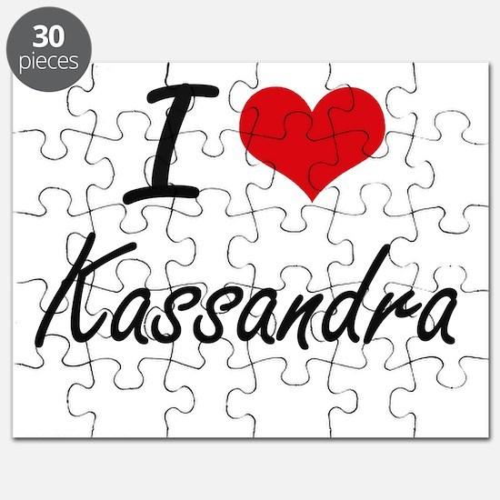 I Love Kassandra artistic design Puzzle