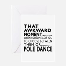 Pole Dance Dance Awkward Designs Greeting Card