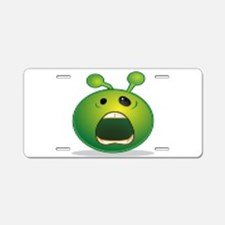 Alien Crying Aluminum License Plate
