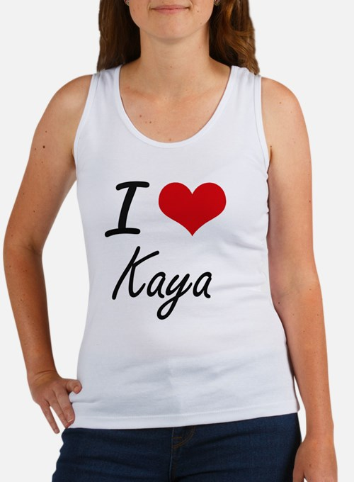 I Love Kaya artistic design Tank Top