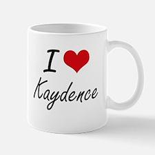 I Love Kaydence artistic design Mugs