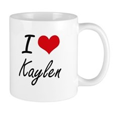 I Love Kaylen artistic design Mugs