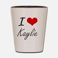 I Love Kaylie artistic design Shot Glass