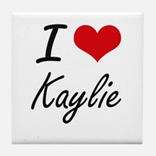I Love Kaylie artistic design Tile Coaster