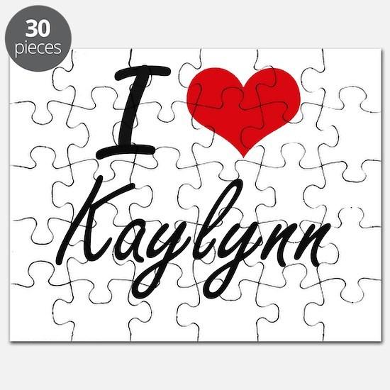 I Love Kaylynn artistic design Puzzle