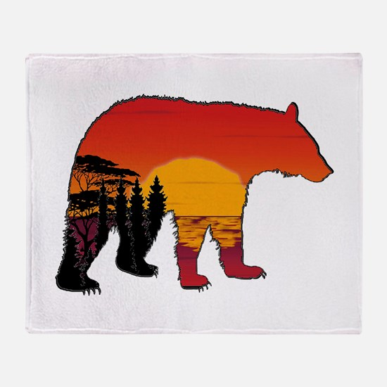 BEAR SET Throw Blanket
