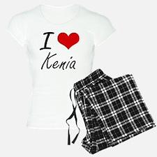 I Love Kenia artistic desig Pajamas