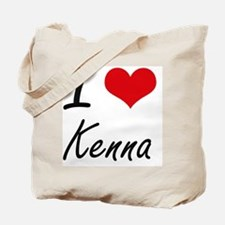 I Love Kenna artistic design Tote Bag